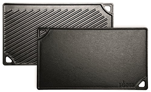 Lodge LDP3 Reversible Grill/Griddle, 9.5-inch x 16.75-inch (Induction Stove Top Plates compare prices)