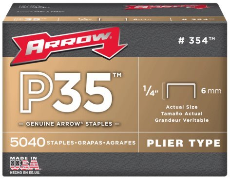Arrow Fastener 354 1 4 Flat Crown Staples for P35 Plier Type Stapler 5040 per PackageB00021UVUG : image