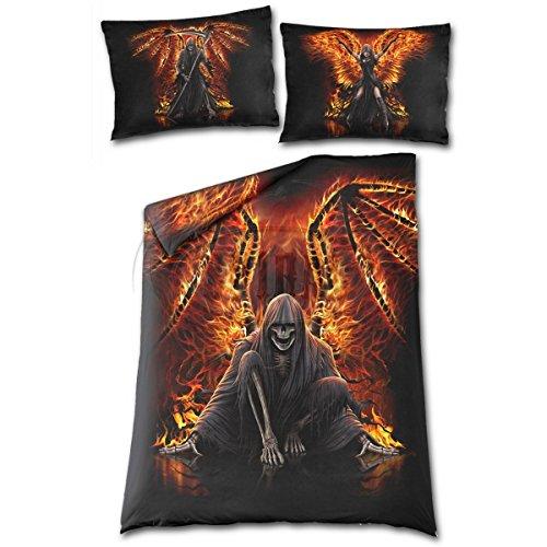 Materiale a Direct Lenzuola Copripiumino singolo & federa fiamme DEATH Reaper