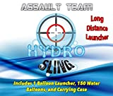 Water Balloon Launcher SlingShot 200 Yards, The ASSAULT TEAM by HydroSling includes 150 FREE balloons and Carrying Case