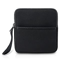 VicTsing Shockproof External CD DVD Writer Blu-Ray & External Hard Drive Neoprene Protective Storage Carrying Sleeve Case Pouch Bag With Extra Storage Pocket for Apple MD564ZM/A USB 2.0 SuperDrive / Apple Magic Trackpad / SAMSUNG SE-208GB SE-208DB SE-218GN SE-218CB / LG GP50NB40 GP60NS50 / ASUS External DVD Drives (Black)