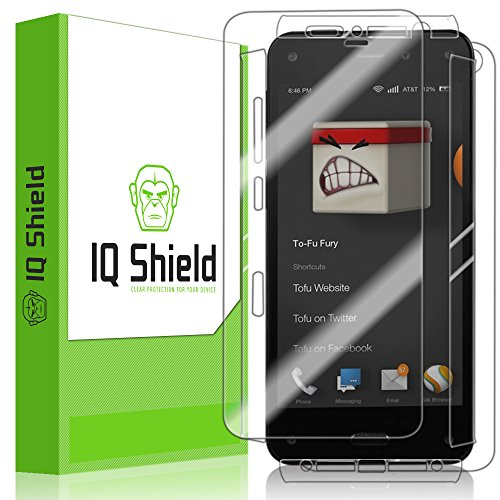 Iq Shield Liquidskin - Amazon Fire Phone Screen Protector + Full Body (Front And Back) - High Definition (Hd) Ultra Clear Smart Film - Premium Protective Screen Guard - Extremely Smooth / Self-Healing / Bubble-Free Shield - Kit Comes With Retail Packaging front-855351