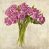 Bouquet de Roses by Sanna, Leonardo- Fine Art Print on CANVAS : 60 x 60 Inches