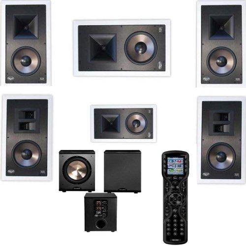 Klipsch Kl-7800-Thx 5.1 In-Wall System-Universal Remote Mx450 Urc-Free Pl-200