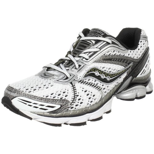 Saucony Men's Progrid Paramount 3 Running Shoe,White/Silver/Black,11.5 M US