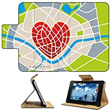buy Asus Google Nexus 7 1St Generation 2012 Model Flip Case Abstract Illustration Of A City Map With Heart