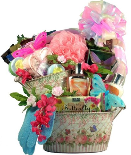 Butterfly Fields Gourmet And Spa Gift Basket -Large