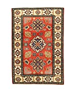 L'EDEN DEL TAPPETO Alfombra Uzebekistan Super Rojo/Multicolor 98 x 148 cm