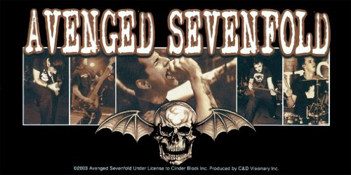 Licenses Products Avenged Sevenfold Bat Sticker