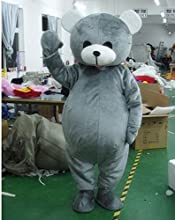 Gray Bear Cartoon Character Costume Cosplay Mascot Custom Products Custom-madesml Free Shipping