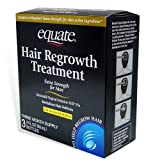 Hair Regrowth:Equate - Hair Regrowth Treatment for Men with Minoxidil 5% Extra Strength, 3 Month Supply