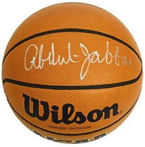 Kareem Abdul-Jabbar signed Wilson NCAA Indoor Outdoor Basketball- PSA Hologram (UCLA...
