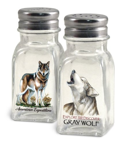 American Expedition Gray Wolf Salt and Pepper Shakers