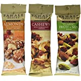 Sahale Snacks Grab And Go Nut Blends 3 Flavor Variety 6 Pack Bundle: (2) Sahale Snacks Almonds With Cranberries, Honey & Sea Salt, (2) Sahale Snacks Classic Fruit & Nut Trail Mix Blend, and (2) Sahale Snacks Cashews With Pomegranate & Vanilla, 1.5 Oz. Ea. (6 Bags Total)