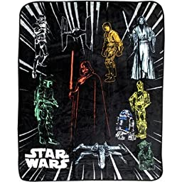 Star Wars Plush Throw 46in/60in