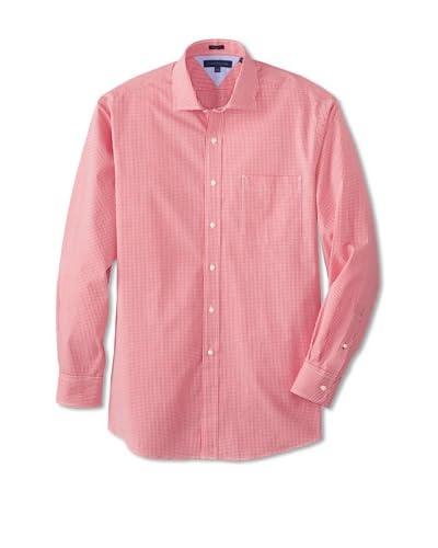 Tommy Hilfiger Men's Regular Fit Gingham Spread Collar Dress Shirt