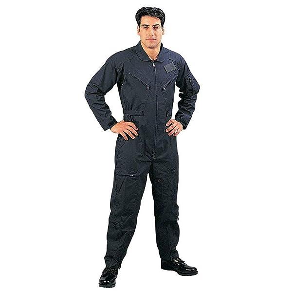 BlackC Sport Coveralls Air Force Style Military Flight Suit Camo (Color: Color Navy Blue, Tamaño: Size (Men's) 2XL)