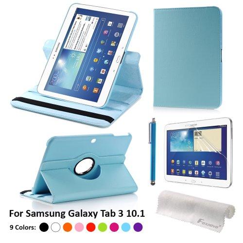 Foxnovo Pu Leather Case & Stylus Pen & Screen Guard & Cloth Set For Samsung Galaxy Note 8.0 N5100 / N5110 / N5120 T310 / T311 / T315 Samsung Galaxy Tab 3 10.1 P5200 / P5210 Samsung Galaxy Tab 3 8.0 T310 / T311 / T315 (Samsung Galaxy Tab 3 10.1 P5200/P5210