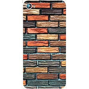 Casotec Brick Wall Design Hard Back Case Cover for Micromax Canvas Fire 4 A107