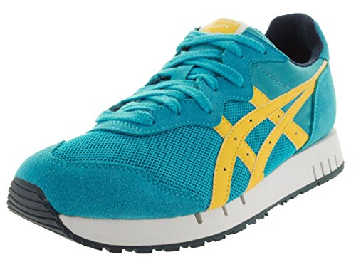 Onitsuka Tiger X-caliber Fashion Shoe,Hawaiian Ocean/Blazing Yellow,9.5 M US