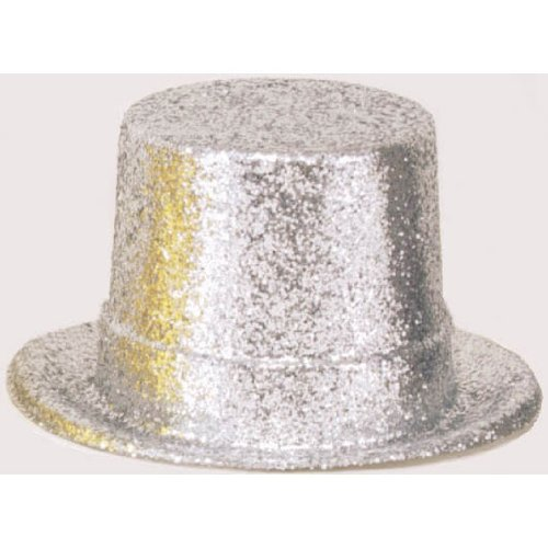 Amscan top Hat Glitter Hollywood, Silver