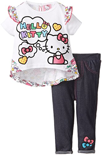 Hello Kitty Baby-Girls Infant 2 Piece Jegging Set With Hi-Low Top, Multi, 24 Months front-729704