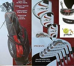"Boys ""AVT"" Golf Club Set w460cc Driver Stand Bag & Free Putter; Teen Length"