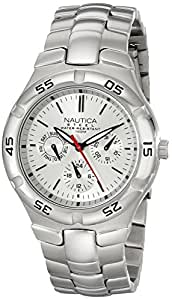 Nautica Men's N10074 Silver-Tone Stainless Steel Watch with Link Bracelet