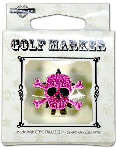 ゴルフ マーカー BGー17 ドクロ ムラサキ