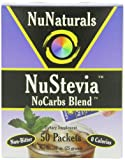 NuNaturals, NuStevia, No Carbs Blend, 50 Packets, .89 oz (25 g)