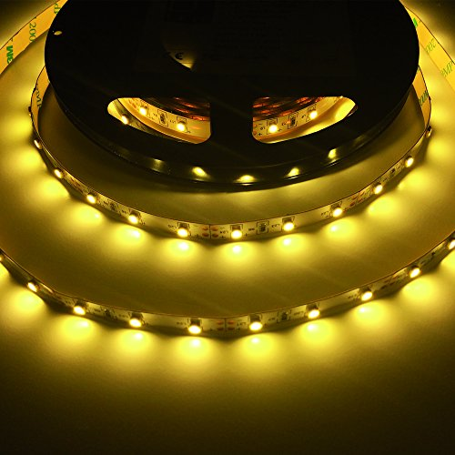 24W 16.4 Ft Led Smd 3528 Flexible Strip - 300 Leds - 12V 2A - Warm White - Lighting Smd3528 - String Strand Cord Spool Simple Chip Decoration