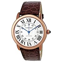 Cartier Ronde Solo de Cartier XL Automatic Silver Dial 18 kt Rose Gold Mens Watch W6701009 by CARTIER