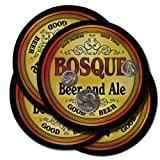 BOSQUE Family Name Beer & Ale Coasters