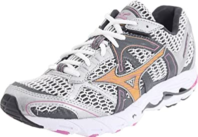 Mizuno Women's Wave Alchemy 11 Running Shoe,White/Gold/Purple,6 2A US