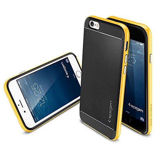 iPhone 6 ケース Spigen [ 二重構造 スリム ] Apple iPhone 4.7 (2014) ネオ・ハイブリッド (国内正規品) (レベントン・イエロー 【SGP11034】)