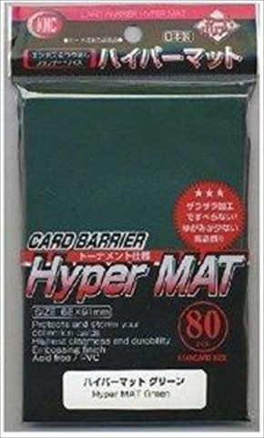 KMC Sleeves HM1553 Deck Protectors Hyper Matte Green, Pack - 80 - 1