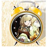 XINGQU Gosick Anime Colorful Design Twin Bell Alarm Clock, Yellow