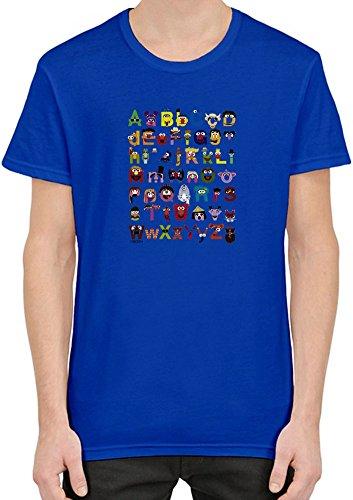 Sesame Street Alphabet T-Shirt per Uomini Medium