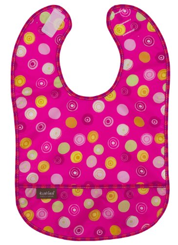 Kushies Waterproof Bib, Pink Circle, Infant - 1