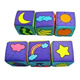 Baby Learning Toys Foam Building Blocks Cube Cloth Books 6pcs/set