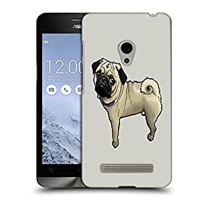 Snoogg Cute Pug Designer Protective Back Case Cover For ASUS ZENFONE 5