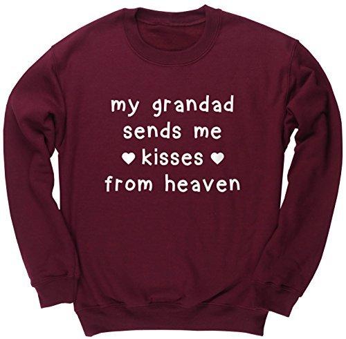 HippoWarehouse My A serafino mi manda kisses da heaven bambini unisex felpa maglia pullover - cotone, Bordeaux, 50% poliestere 50% cotone 50% poliestere 50% cotone, Donna, 12-13 Years