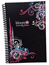 2014 bloom Calendar Year Daily Day Planner Fashion Organizer Agenda January 2014 Through December 2014 Black