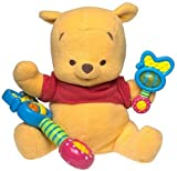 Disney Mattel Fisher-Price Electronic Magic Rattle Pooh Plush Winnie The Pooh