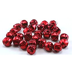 3/8 Inch 10mm Red Mini Small Craft Jingle Bells Charms Bulk 150 Pieces