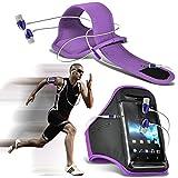 ONX3® ( Purple + Earphone ) Oppo N1 Mini Hülle Abdeckung