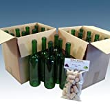 Home Brew & Wine making - Pack Of 24 Green Wine Bottles With Balliihoo? Corks