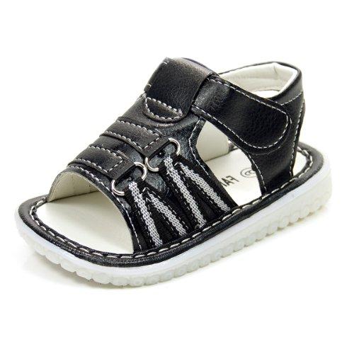 Happy Bargains Ltd , Jungen Sandalen Schwarz schwarz, Schwarz - schwarz - Größe: 8 UK