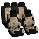 FH-FB071115-SEAT Travel Master Seat Covers Airbag Ready & Rear Split Beige/Black