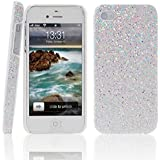 The BlingBling Schutzh�lle Apple iPhone 4 4G 4S H�lle (harte R�ckseite) 3D Bling Glitzer Strass Tasche H�lle Etui in wei�